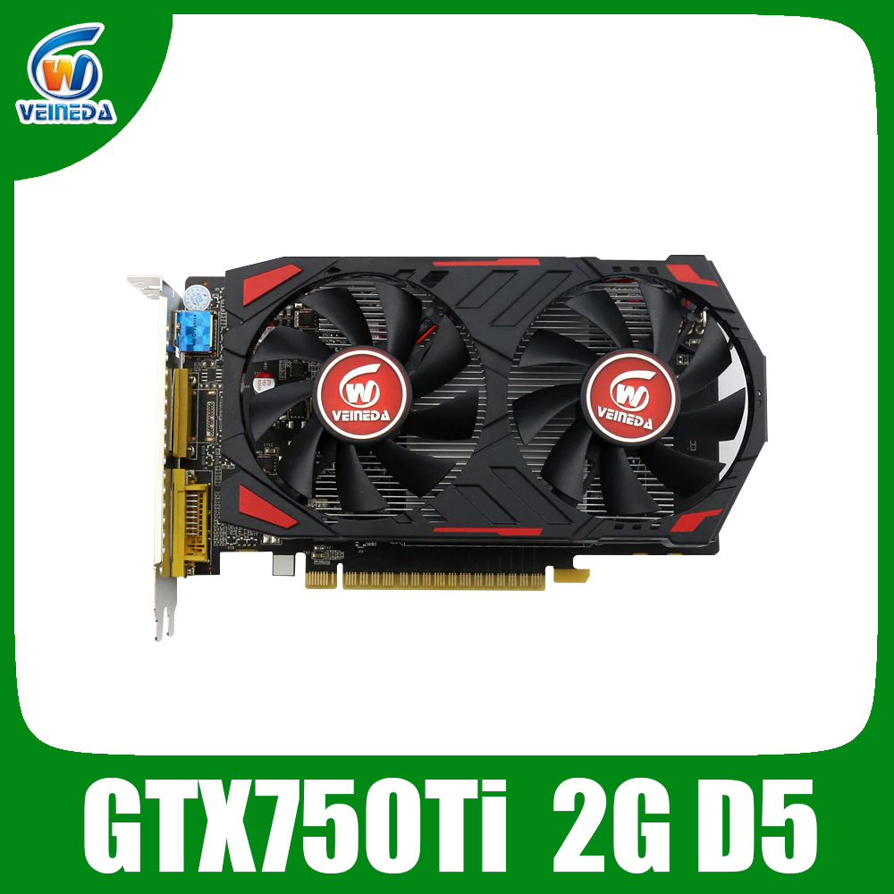 Video Card Original GPU GTX750Ti 2GB GDDR5 Graphics Cards InstantKill R7 350 ,HD6850 for nVIDIA Geforce games image