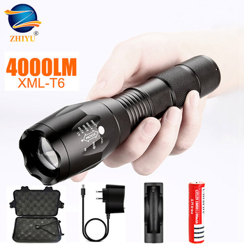 Mini Portable LED Flashlight Ultra Bright Waterproof Torch T6 Camping Light 5 Modes Zoomable Bicycle Light Use 18650 Battery securitying 20000 lumen 8x xml t6 5 modes led flashlight super bright torch portable light for outdoor camping hiking