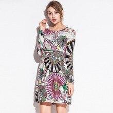 Ozhouzhan весенняя одежда Европа и Америка женское платье стиль Талия обнимающее платье с цветочным принтом