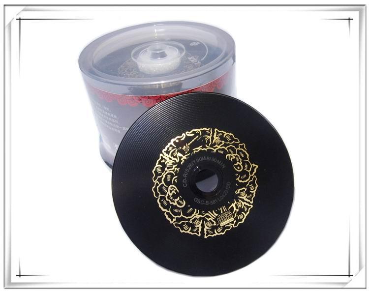 Wholesale Double Black CD Recordable 700MB 80MIN 52X 50pcs/lot Free Shipping