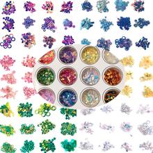 Colorful Shell Flashing Broken Sequins Pieces UV Epoxy Resin Mold Making Jewelry Filling For DIY Jewelry Accessories 12box/lot