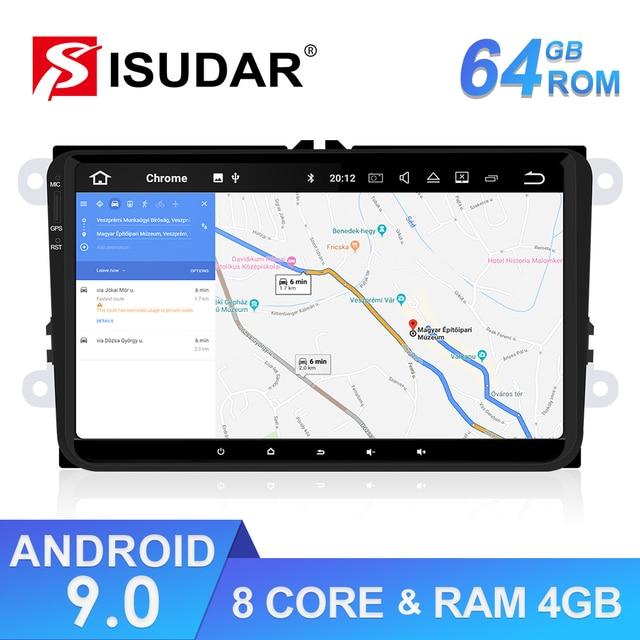 $ US $216.81 Isudar 1 Din Android 9 Auto Radio For Volkswagen/VW/POLO/PASSAT/Golf/Skoda/Octavia/Seat/Leon Car Multimedia GPS Player USB DVR