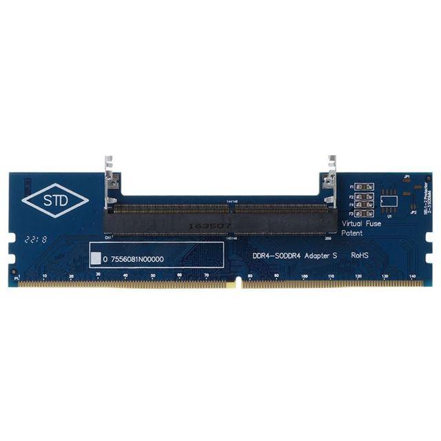 แล็ปท็อป DDR4 SO DIMM เดสก์ท็อป DIMM หน่วยความจำ RAM Connector อะแดปเตอร์เดสก์ท็อป PC การ์ดหน่วยความจำแปลงอะแดปเตอร์