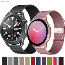 Milanese strap For Samsung Galaxy watch 3 45mm 41mm/Active 2 46mm/42mm Gear S3 Frontier 20mm 22mm bracelet Huawei GT/2/2e band