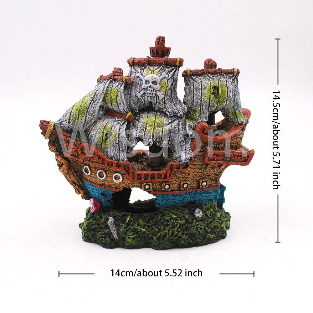 Big Offer 75e1 7348 Wreck Sunk Ship Aquarium Ornament Sailing