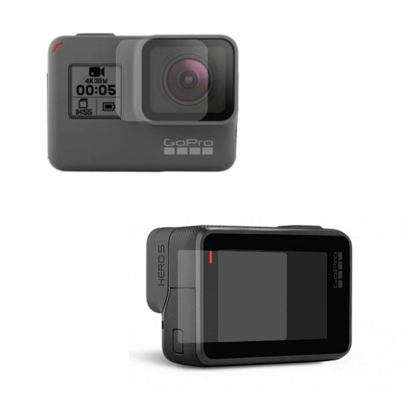 New Tempered Glass Protector Cover Case For Go Pro Gopro Hero 5 6 7 Hero5 Hero6 Hero7 Camera Lens Cap LCD Screen Protective Film 5
