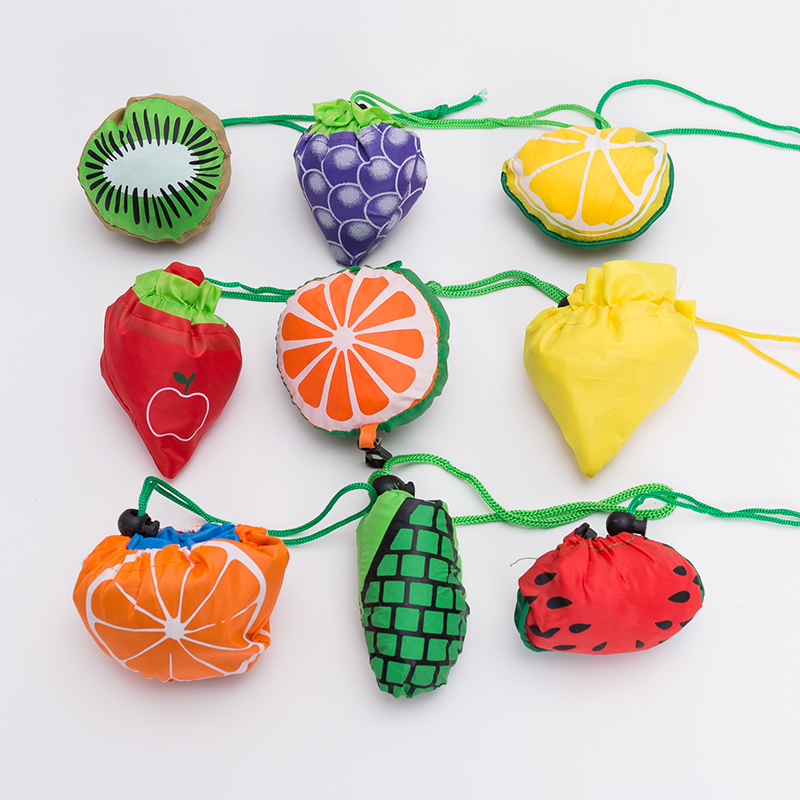 2020 Fashion Creative Fruit Shopping Bags Large Size Foldable Shopper Pouch Reusable Shopping Bag Folding Grocery Eco Tote Bag