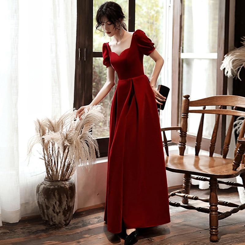 Evening Dresses A-Line Sweetheart-Neck Elegant Formal Long Dresses Vestidos De Fiesta De Noche 2019