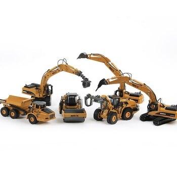 Huina liga diecast escavadeira 150 engenharia modelo de construção bulldozer caminhão de metal para meninos presente de aniversário brinquedo carros
