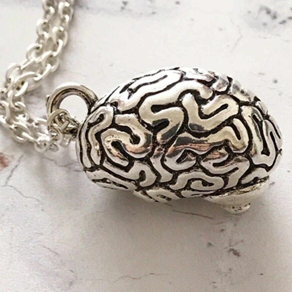 Não Giải Phẫu Giải Phẫu Cerebrum Mặt Dây Chuyền Vòng Cổ Choker Gothic trang sức