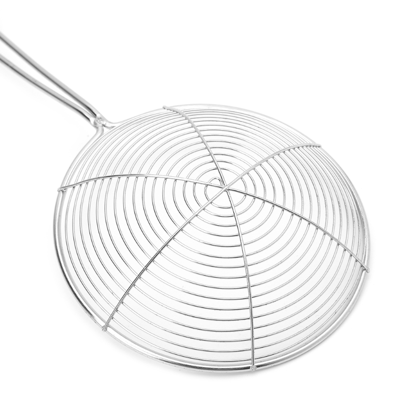 Solid Spider Strainer Skimmer Ladle With Handle Stainless Steel <font><b>Kitchen</b></font> <font><b>Tool</b></font> Y1QB image