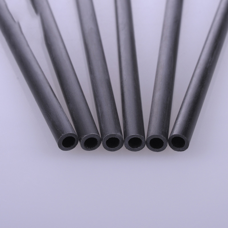 5pcs Diameter 2mm/<font><b>3mm</b></font>/4mm/5mm/6mm/8mm Carbon Fiber <font><b>Rod</b></font> Hollow Round Bar Shaft for RC Airplane Model 200mm Length image