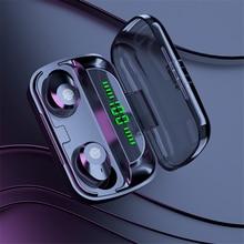TWS Bluetooth Earphones 2200mAh Charging Box Wireless Headphone 9D Stereo Sports Waterproof Earbuds Headset with Microphone