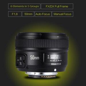 Image 3 - YONGNUO YN50mm F1.8 objectif AF à grande ouverture pour Canon Nikon D800 D300 D700 D3200 D3300 D5100 D5200 D5300 objectif dappareil photo reflex numérique 50mm