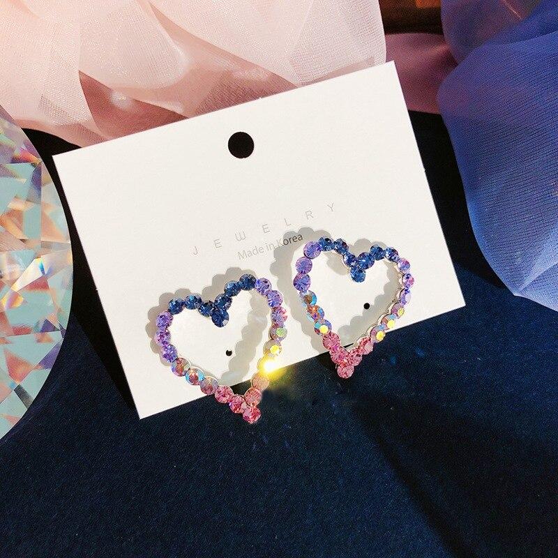 Женские Разноцветные серьги гвоздики mengjiqiao корейские элегантные