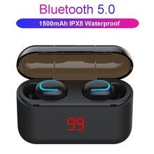 Słuchawki Bluetooth TWS bezprzewodowy na baterie wyświetlacz słuchawki zestaw głośnomówiący słuchawki sportowe wodoodporne słuchawki douszne gamingowy zestaw słuchawkowy telefon
