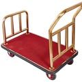 Chariot à bagages d'hôtel Lobby acier inoxydable manutention à plat remorque aéroport muet roue chariot chariot de livraison de voiture| |   -