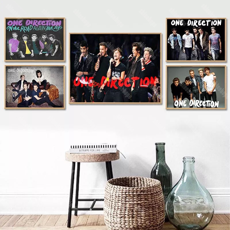 Custom One Direction Canvas Poster 27X40cm30X45cm Home Decor Canvas Printing Silk Fabric Print Wall Poster No Frame