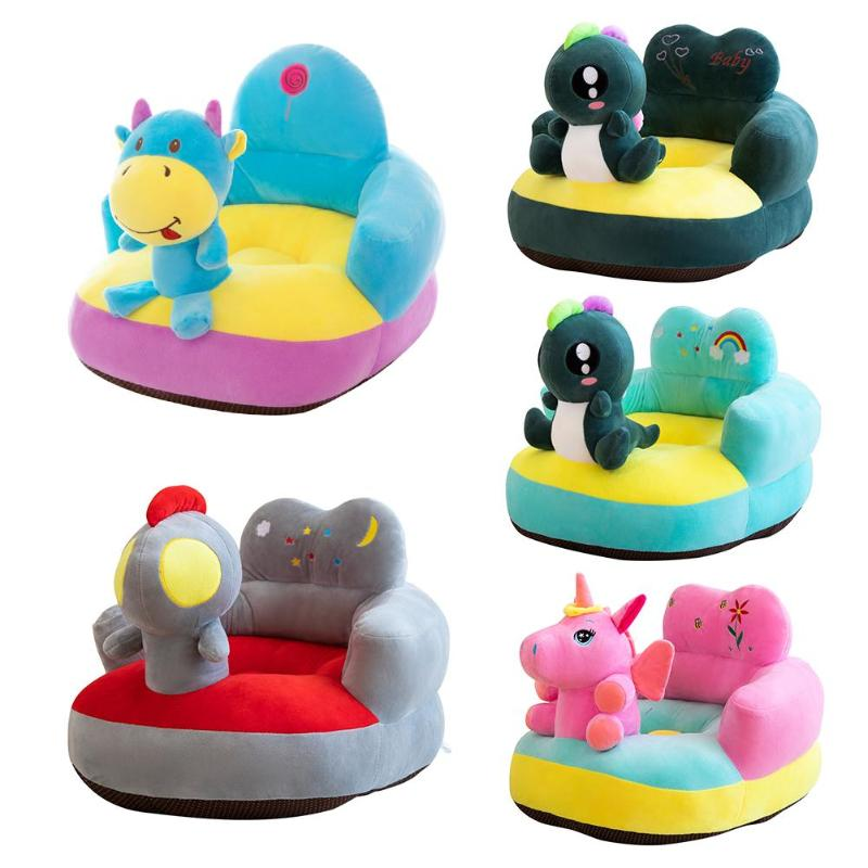Seat Cover Plush Chair Baby Sofa Support Learning To Sit Comfortable Toddler Nest Puff Washable Without Filler Cradle Sofa Chair