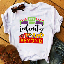 Women T Womens Graphic Toy Story To Infinity and Beyond Movie Letter Printed Top Tshirt Female Tee