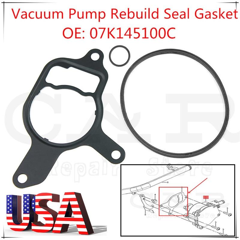 Vacuum Pump Reseal Kit Rebuild Seal Gasket 07K145100C 07K145215A Replacemnt for VW /& Audi 2.5L Vacuum Pump