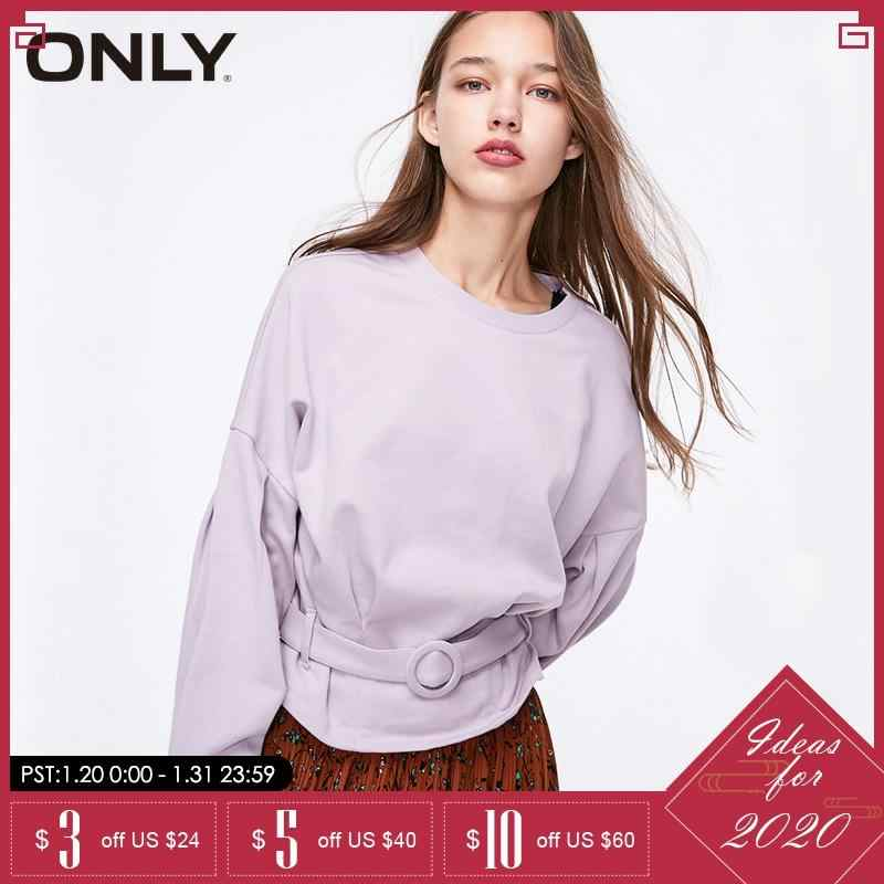 ONLY  winter Loose Fit  Batwing Sleeves Short Pullover Sweatshirt| 11919S554