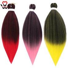 Manwei плетеные волосы синтетические косы kanekalon Джамбо Омбре