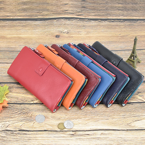 Image 5 - DICIHAYA Soft Genuine Leather Wallet Womens Coin Purse Phone Bag Multi card Bit Card Holder COW Purse Contrast Color Billetera