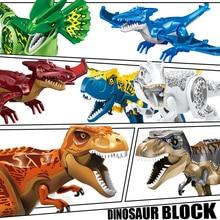 Jurassic Dinosaur Park Toys Tyrannosaurus Rex Indominus Building Blocks Set Bricks Constructor MOC Dragon Kids Christmas Gifts