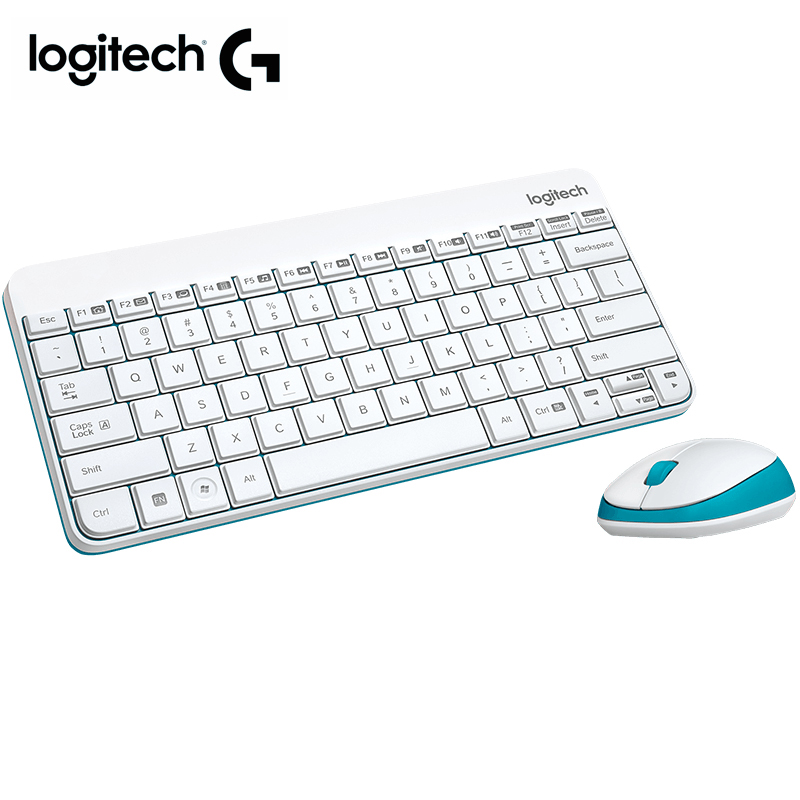 Logitech MK245 Nano Wireless Keyboard and Mouse Combo Compact keyboard and contoured mouse for laptop desktop home office using