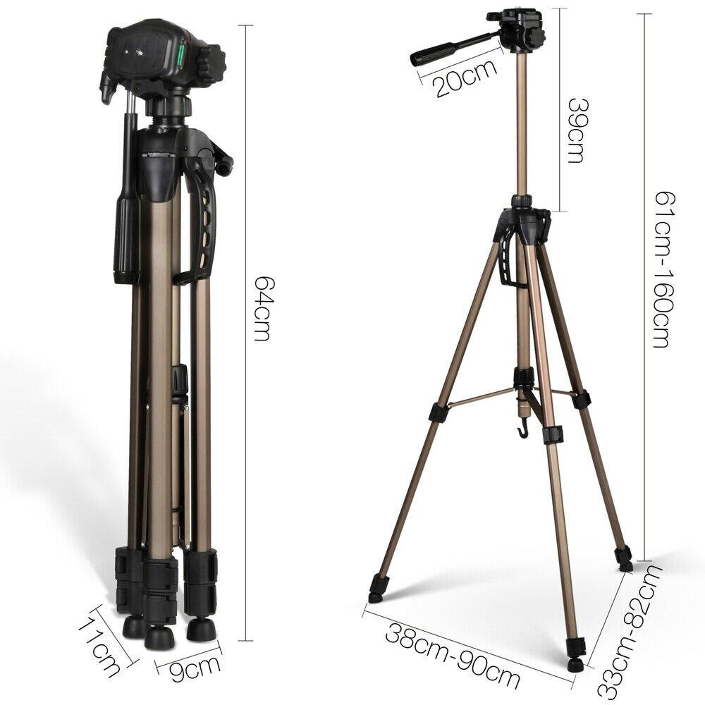 3 voies tête 61-160cm professionnel caméra trépied support pour Canon Nikon Sony DSLR caméra caméscope Mini portable trépied pour téléphone - 5