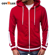 Covrlge Sweatshirt Men 2018 NEW Casual Hoodies Brand Male Long Sleeve Solid Hoodie Black Red Big Size Poleron Hombre MWW174