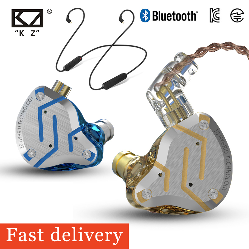 <font><b>KZ</b></font> ZS 10 Pro In-Ear Stereo Wired Headsets Replaceable Bluetooth Earphones Wireless Earphones with Mic Sports Neckband Earphones image