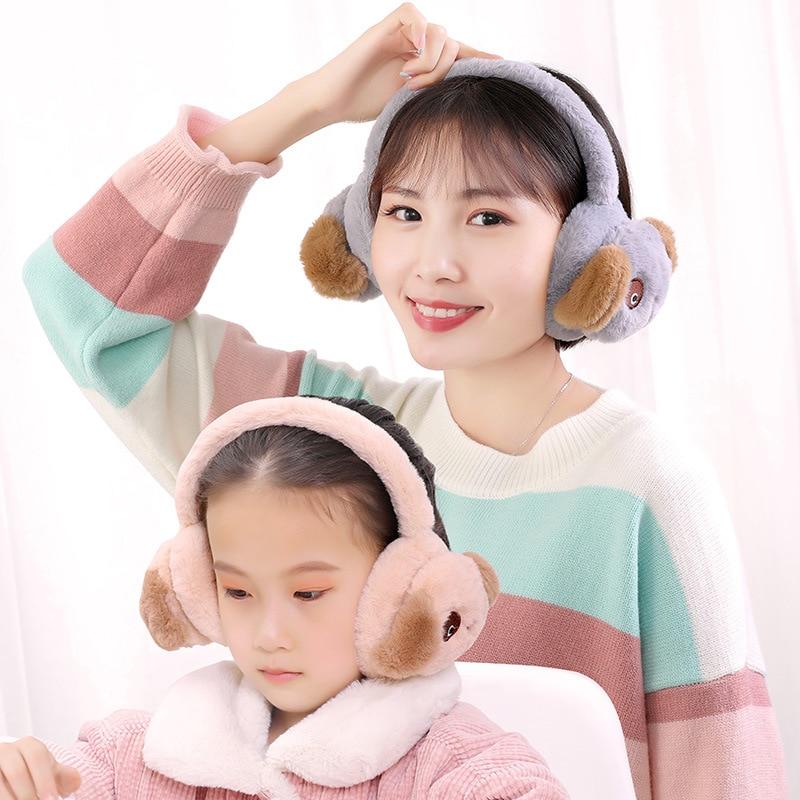 New Cute Boy And Girl Winter Warm Earmuffs Plush Warm Earmuffs Children Cute Dog Winter Earmuffs Earmuffs Random Color