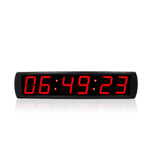 4'' programmable digital timer clocks home decor wall LED clock countdown meeting timer with stopwatch 220v 1 8 programmable clock led interval timer big stopwatch home gym fitness clock desk decor eu plug multi function clock