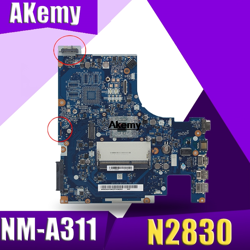 Brand New aclu9 / NM - aclu0 A311 laptop Motherboard for <font><b>Lenovo</b></font> Laptop with n2830 <font><b>G50</b></font> - 30 CPU (Intel CPU 100% test) image