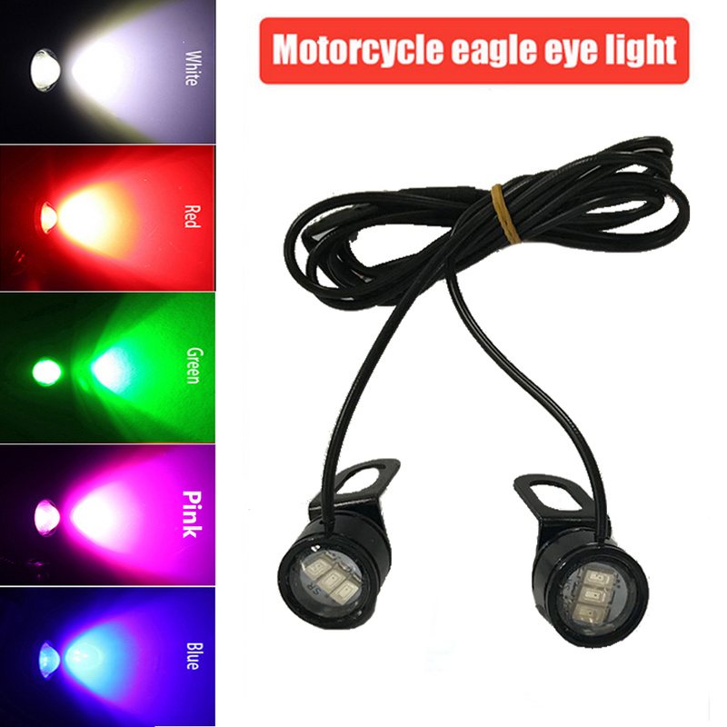 Motorcycles DC 12V Daytime Running Light DRL Eagle Eye Lamp Flashing  Bright Universal Motorcycle