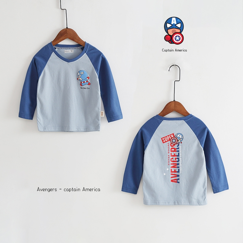 New Spring Boys Girls Cartoon Cotton T Shirts Children Tees Boy Girl Long Sleeve T Shirts Kids Tops Brand Baby Clothes 12M-8Y 45