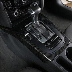 Styling Auto In fibra di Carbonio Multimedia Poggiamano pannello di Marcia Coperture Adesivi Gears Trim Per Audi A4 b8 A5 Accessori Auto Per Interni