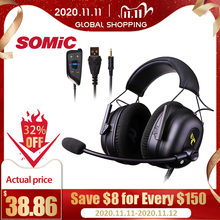 Somic G936N Gamer Oortelefoons 7.1 Virtual Gaming Headsets Surround Sound Usb 3.5Mm Noise Cancelling Hoofdtelefoon Voor PS4 Pc Games
