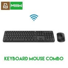 الأصلي MIIIW RF 2.4GHz اللاسلكية مكتب لوحة المفاتيح الماوس مجموعة 104 مفاتيح متوافقة المحمولة USB لوحة المفاتيح ل شاومي ويندوز PC ماك