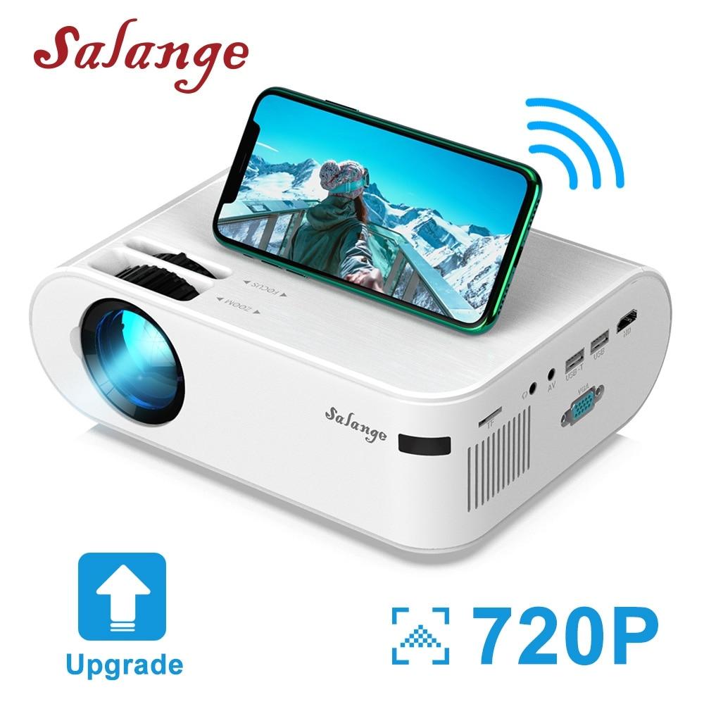 Salange P62 мини проектор 3000 люмен, 720P светодиодный видео проектор для Мобильный телефон зеркальное отображение Поддержка Full HD 1080P Android