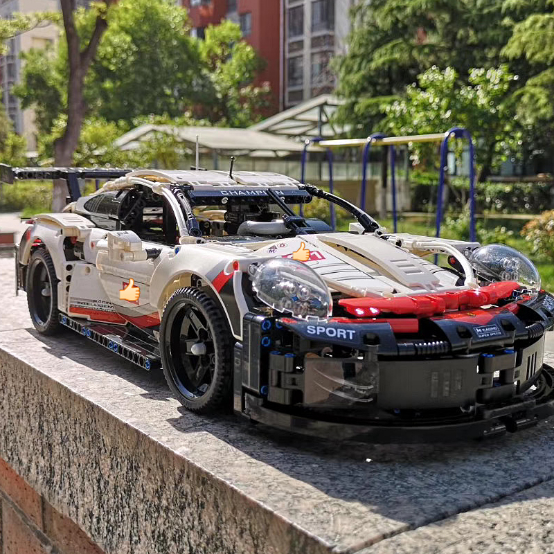 Super Race Car Compatible DECOOL 42096 Rsr Technic Speed Champions Vehicle Bugatti Set Building Blocks Toys For Children Gifts