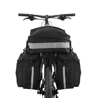 MTB Road Bike Rear Seat Trunk Bag For Bicycle 3-IN-1 Multi-functional Cycling Pannier Cargo Carrier 37L Accessories For Bicycle