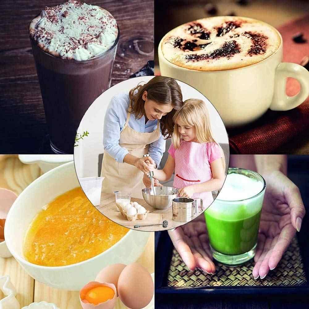 Yajiao leite frother fabricante de espuma elétrica handheld foamer alta velocidades bebida misturador frothing varinha para café latte capuccino