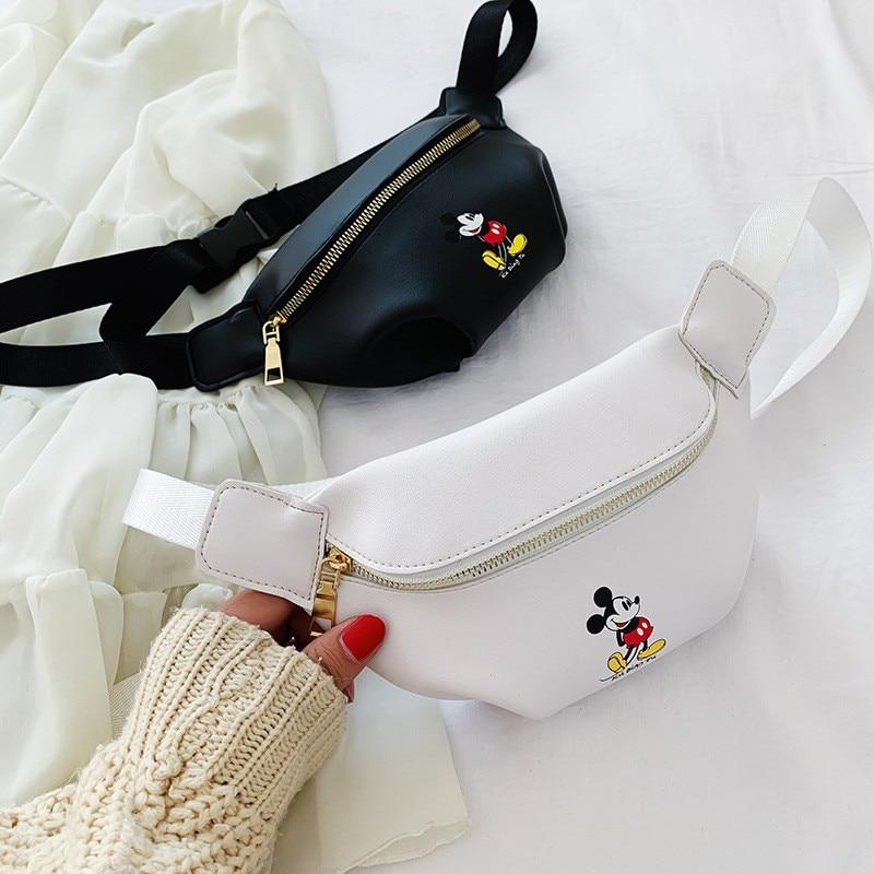 Disney Cartoon Mickey Mouse Waist Bag Children Doll Handbag New Women Bag Fashion Shoulder Messenger Bag