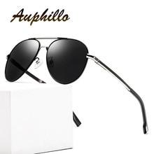 AUPHILLO Photochromic Sunglasses Men Brand Designer Classic Retro Pilot Polarized Drivers Driving Glasses 928
