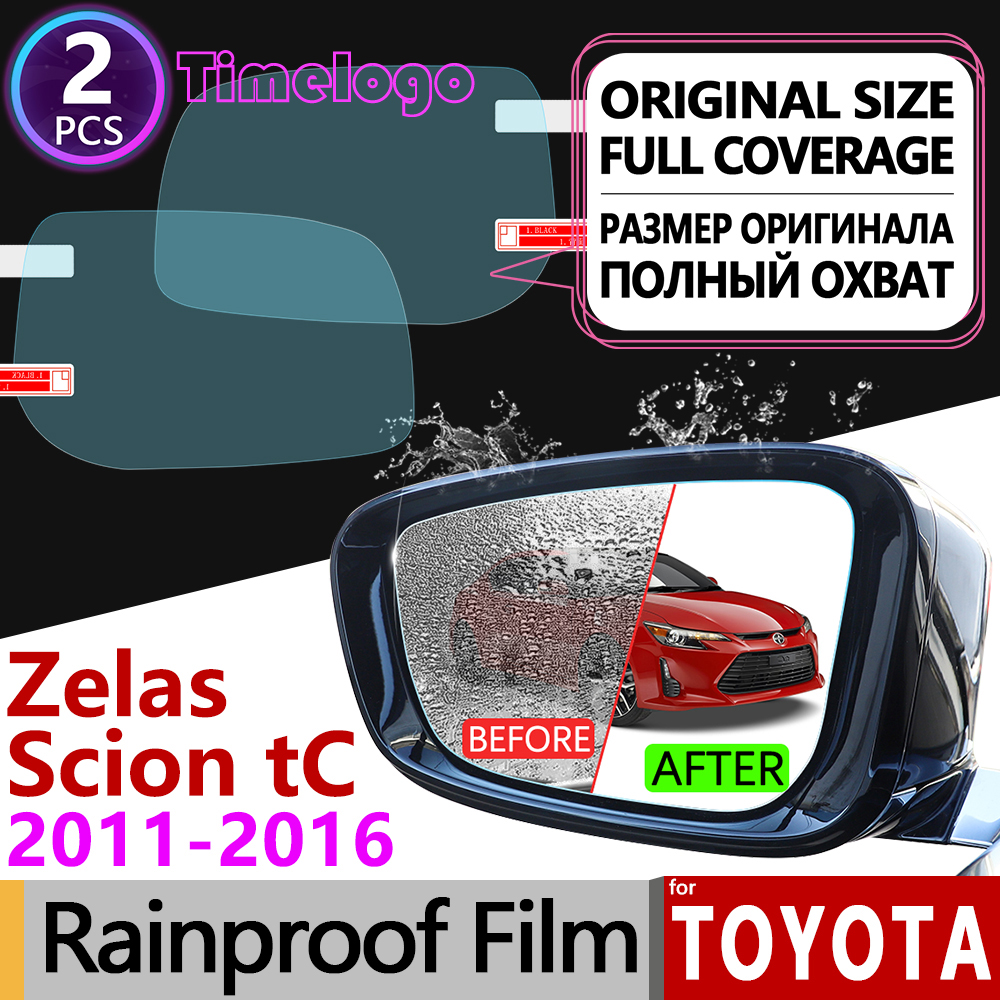 For Scion tC Toyota Zelas 2011 2012 2013 2014 2015 2016 AT20 Anti Fog Film Rearview Mirror Rainproof Anti Fog Films Accessories in Car Stickers from Automobiles Motorcycles
