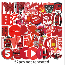 52 красный ins стиль граффити милый мультфильм наклейки мобильный телефон компьютер вода чашка багаж водонепроницаемый наклейки