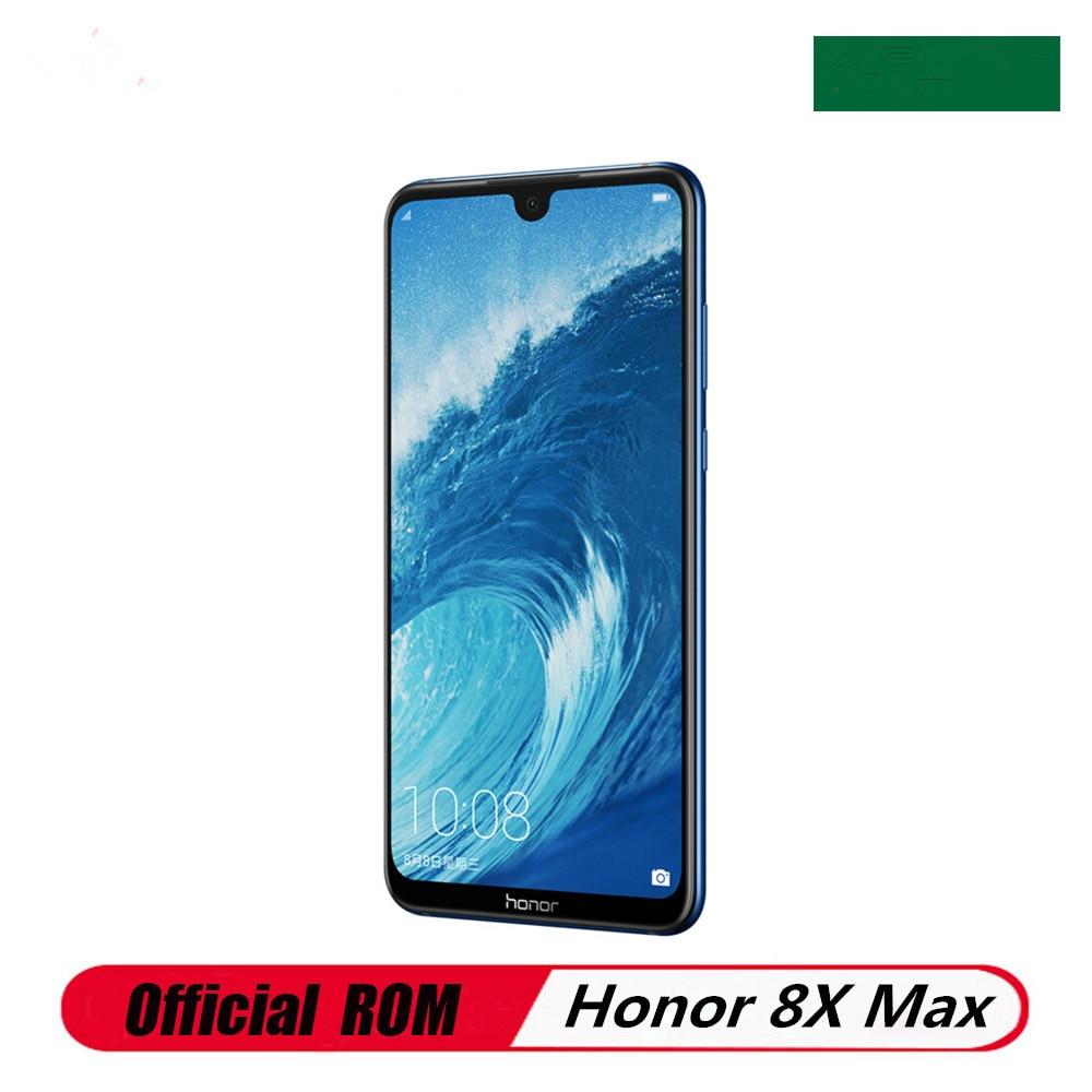 Мобильный телефон Honor 8X MAX, 4G LTE, Snapdragon 660, сканер отпечатков пальцев, 7,12 дюйма, 2244x1080, 6 ГБ ОЗУ, 128 Гб ПЗУ, 16 МП, 5000 мАч, Android 8,1